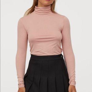 NWOT Powder Pink Turtleneck Top